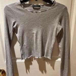 Brandy Melville Wynn Longsleeve grey top